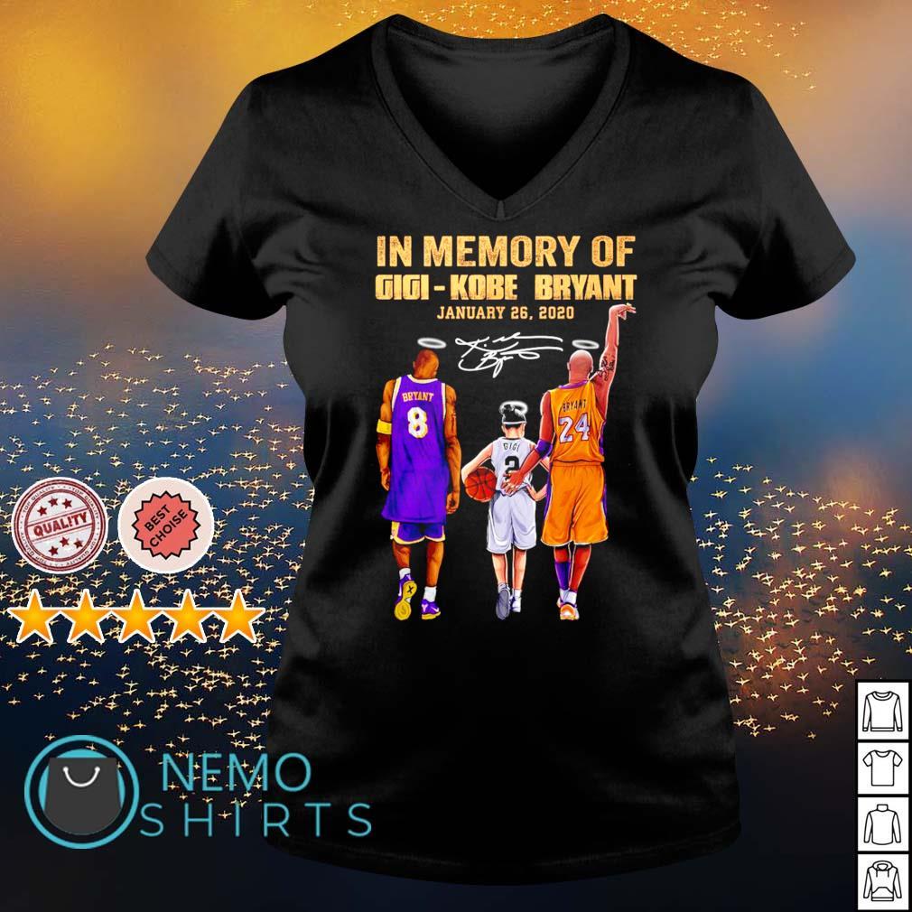 In memory of Gigi Kobe Bryant January 26 2020 s v-neck-t-shirt