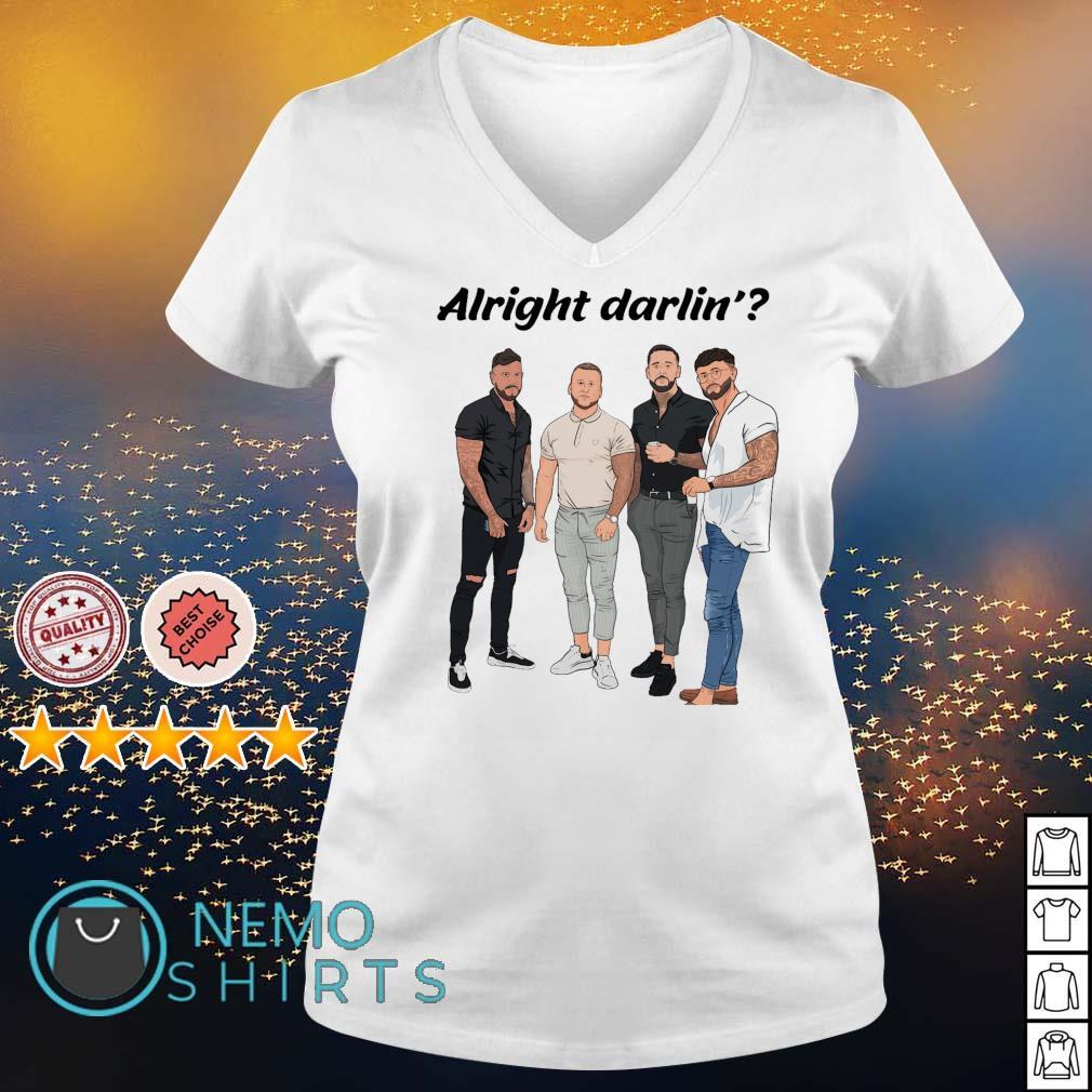 Mens alright darling s v-neck-t-shirt