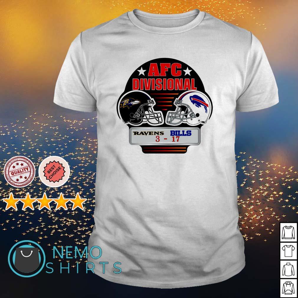 Ravens vs. Bills 3 AFC Divisional shirt