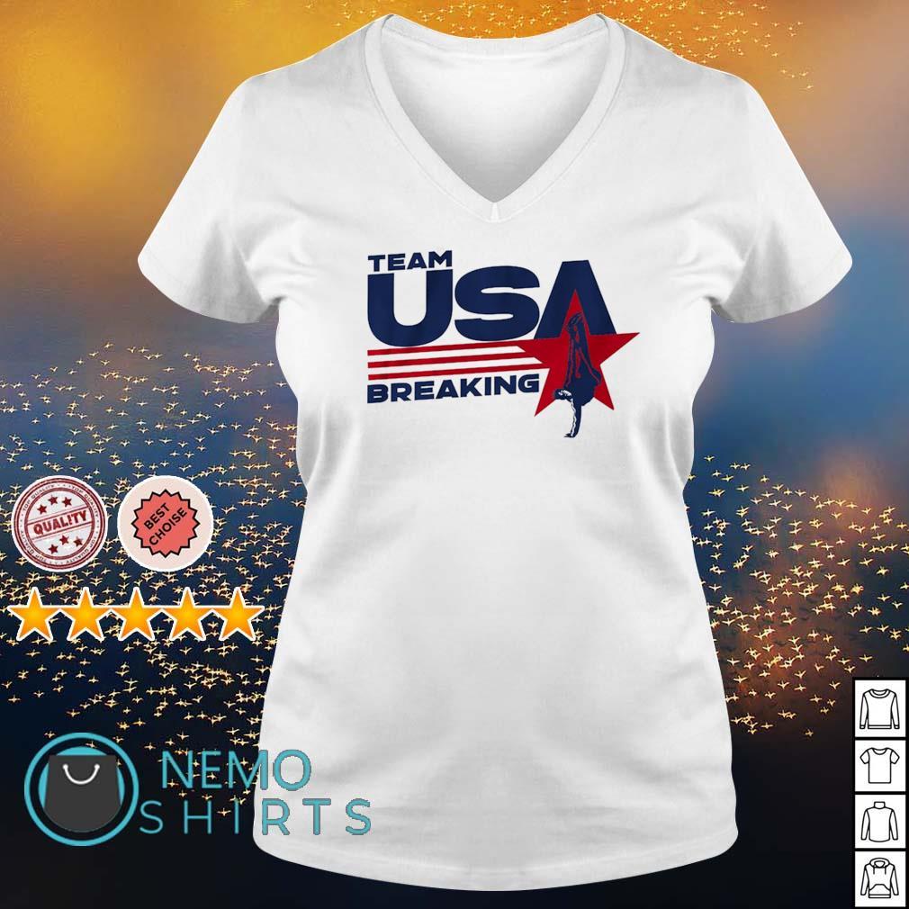 Team USA Breaking s v-neck-t-shirt