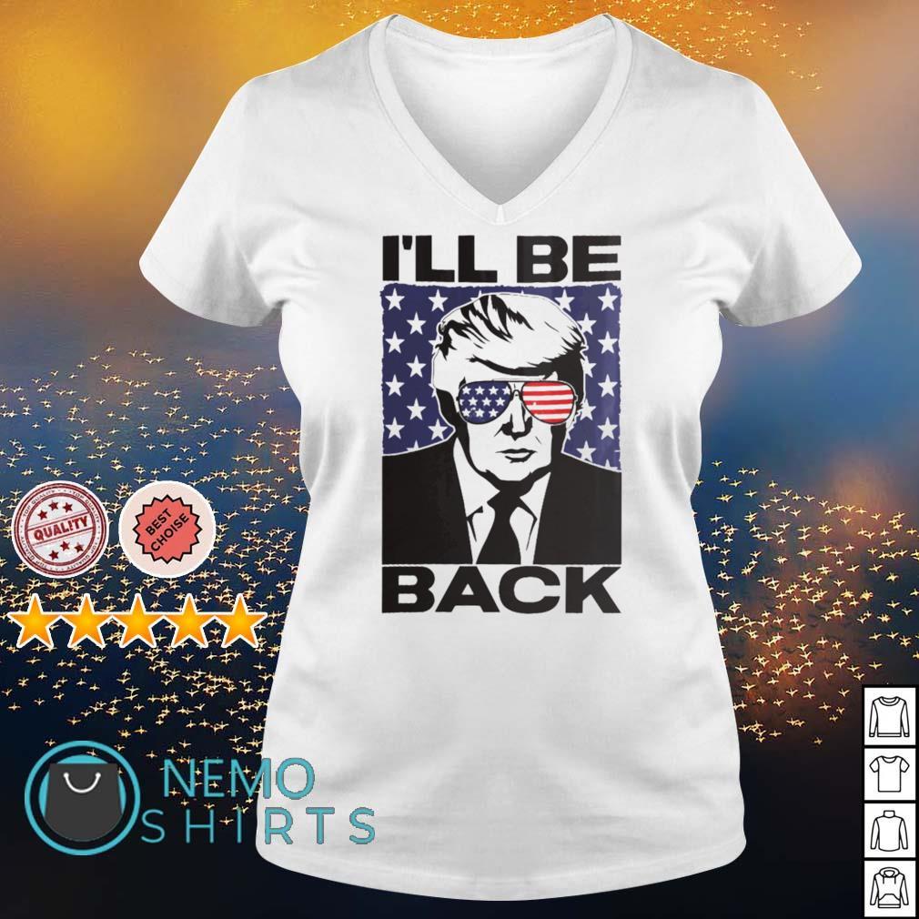 Trump 2024 I'll be back s v-neck-t-shirt