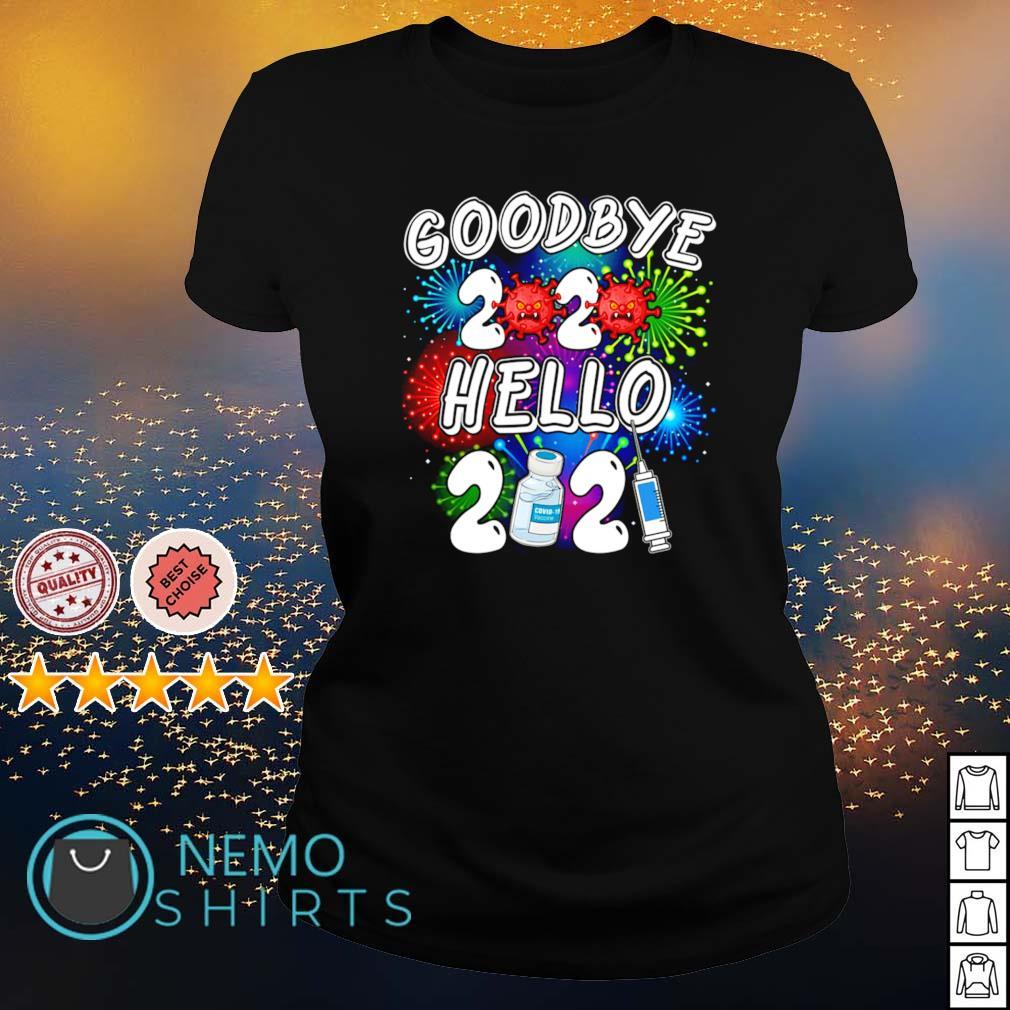 Vaccine goodbye 2020 hello 2021 Covid-19 s ladies-tee