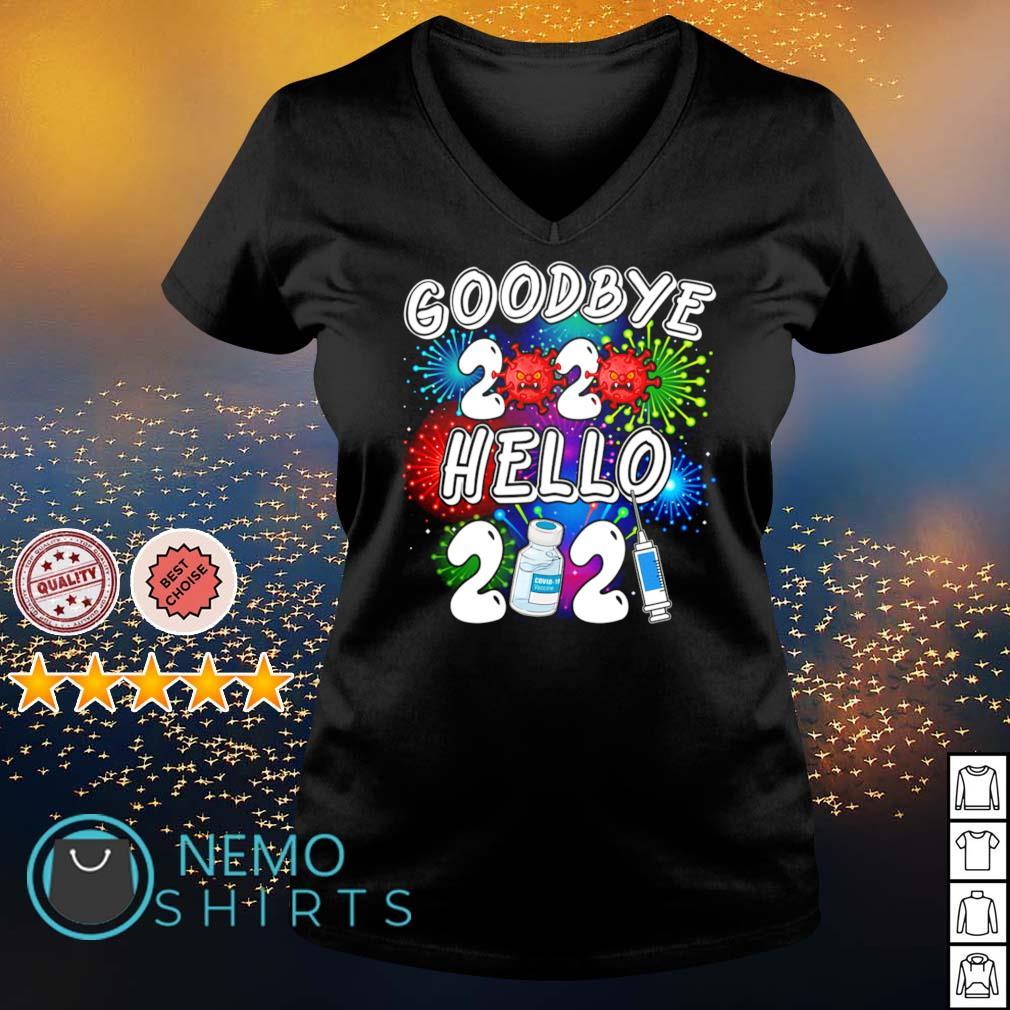 Vaccine goodbye 2020 hello 2021 Covid-19 s v-neck-t-shirt