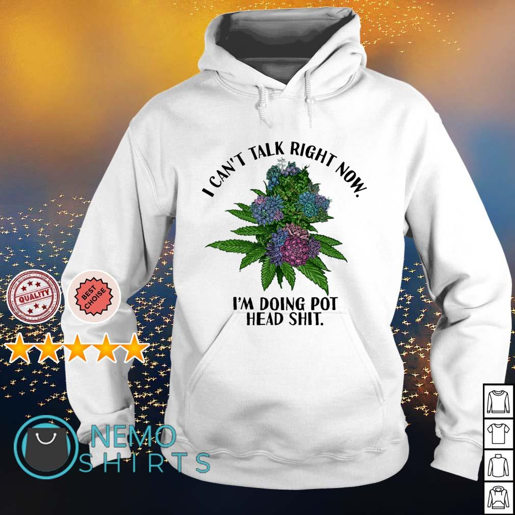 Weed I can't talk right now I'm doing pothead shit s hoodie