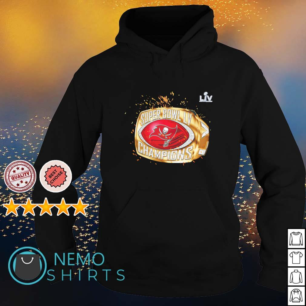 Tampa Bay Buccaneers super bowl LV champions 2020 ring s hoodie